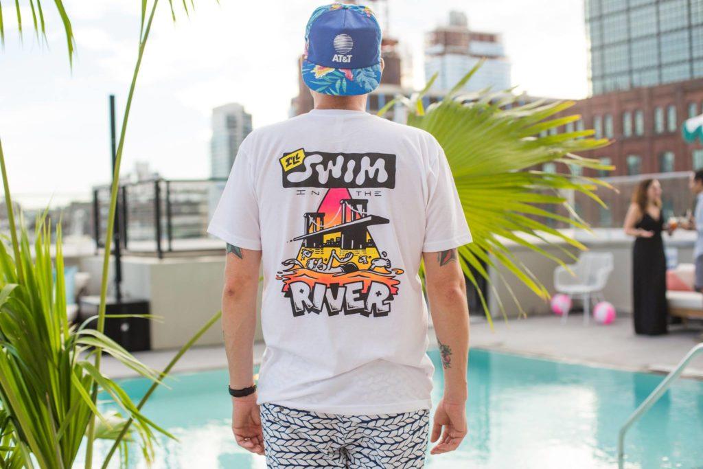 """Dark Igloo """"I'll Swim in the River"""" Shirt"""