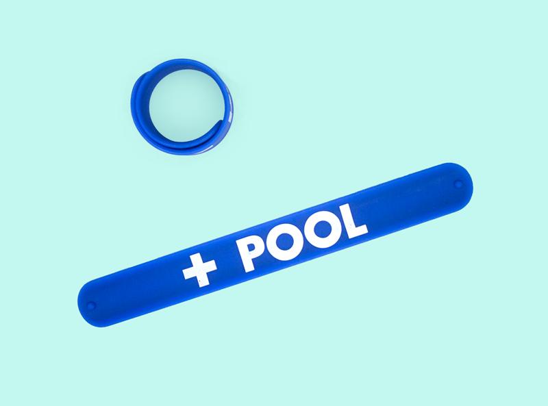 Blue Slap Bracelet