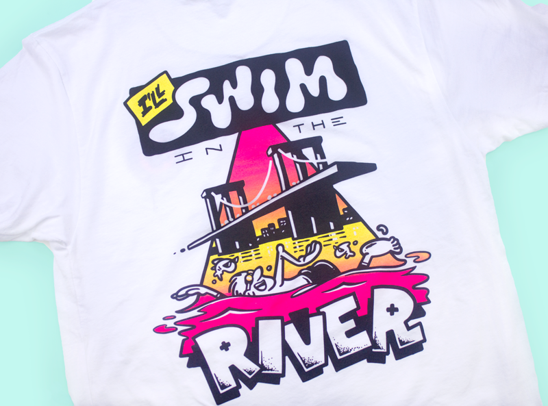 "Dark Igloo ""I'll Swim in the River"" Shirt"